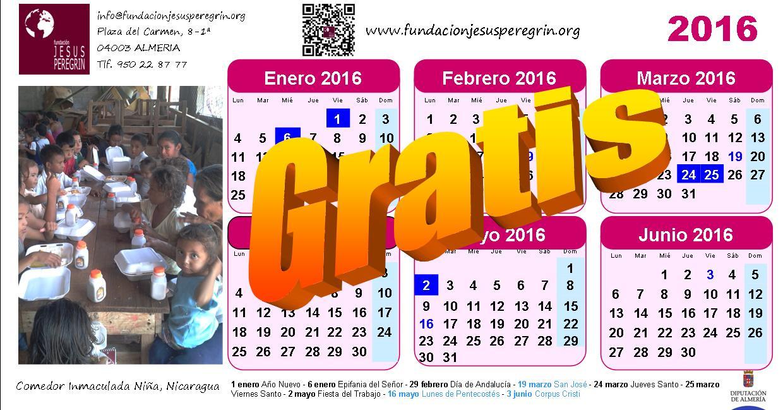 calendario 2016 fundacion gratis